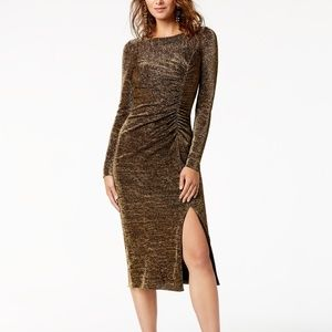 Rachel Zoe Lovey Metallic Jersey  Gold  Dress